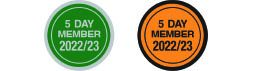 Special Sticker 5 Day Member 2022/23